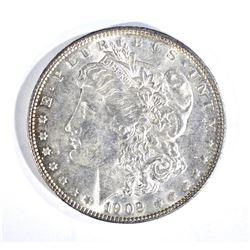 1902 MORGAN DOLLAR, CH AU