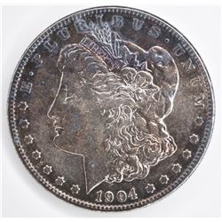 1904-S MORGAN DOLLAR  AU TONED