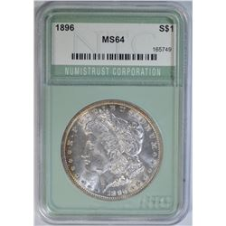 1896 MORGAN DOLLAR NTC MS64