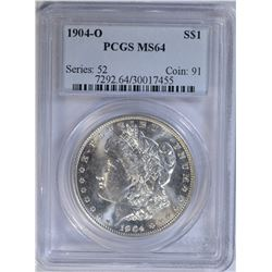 1904-O MORGAN DOLLAR PCGS MS64
