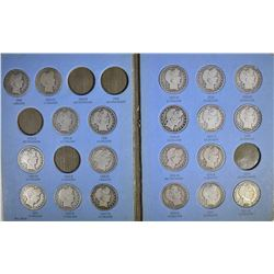 PARTIAL BARBER HALF DOLLAR SET: 25 DIFFERENT, NICE