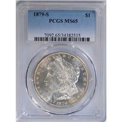 1879-S MORGAN DOLLAR PCGS MS65