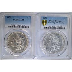 2 - 1879 PCGS MORGAN DOLLARS: