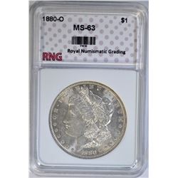 1880-O MORGAN DOLLAR RNG CH BU