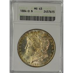 1884-O MORGAN DOLLAR ANACS MS 63