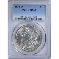 1888-O MORGAN DOLLAR PCGS MS62