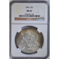 1896 MORGAN DOLLAR NGC MS 63