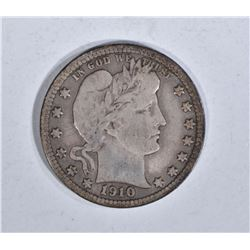 1910-D BARBER QUARTER, F/VF