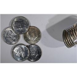BU ROLL OF 1965 KENNEDY HALF DOLLARS