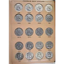 NICE COMPLETE CIRCULATED FRANKLIN HALF DOLLAR SET