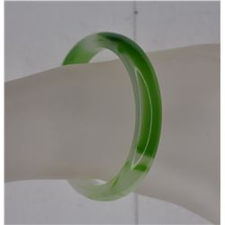 Green & Translucent JADE BANGLE BRACELET