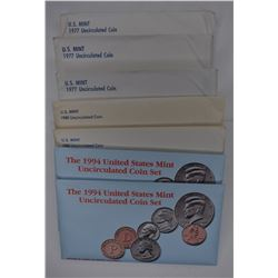7 - U.S. MINT UNCIRCULATED COIN SETS: