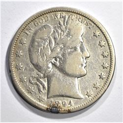 1894-O BARBER HALF DOLLAR, F/VF
