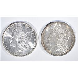1880-S & 86 GEM BU MORGAN DOLLARS