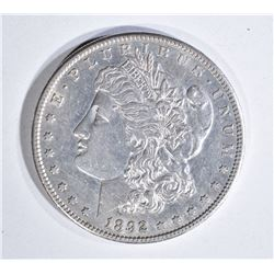 1892-S MORGAN DOLLAR, AU+