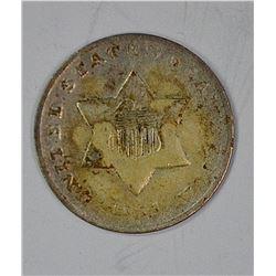 1851-O 3-CENT SILVER, VF
