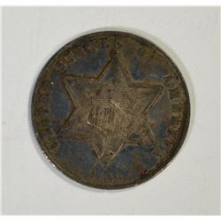 1862 3-CENT SILVER, XF+