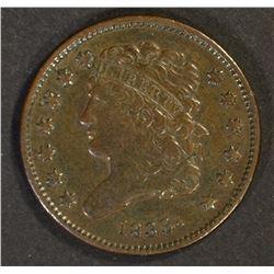 1835 HALF CENT, XF