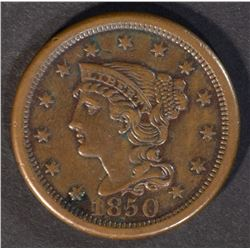 1850 LARGE CENT, XF+