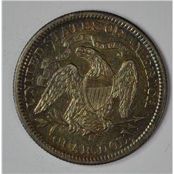 1877-S SEATED QUARTER, AU