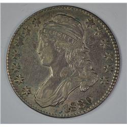 1830 BUST HALF DOLLAR, XF/AU