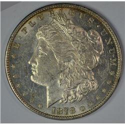 1878 7TF MORGAN DOLLAR, CH BU SEMI-PL