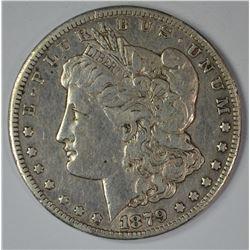 1879-CC MORGAN DOLLAR, XF