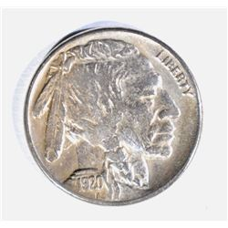 1920-S BUFFALO NICKEL, XF/AU