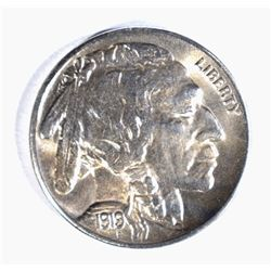 1919-S BUFFALO NICKEL, CH BU cleaned KEY DATE