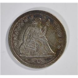 1841-O SEATED QUARTER, F/VF