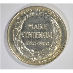 1920 MAINE COMMEM HALF DOLLAR, AU/BU