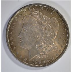 1886 MORGAN DOLLAR, GORGEOUS COLOR! ABSOLUTE GEM