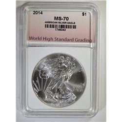 2014 AMERICAN SILVER EAGLE PERFECT GEM BU