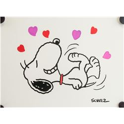 US Pop Art Mixed Media Snoopy Signed Schulz