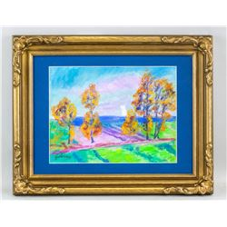 French Impressionist Pastel Signed Guillaumin