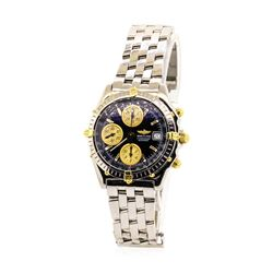 Breitling Men's Chronomat Wristwatch - Stainless Steel and 18KT Yellow Gold