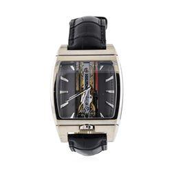 Corum Mens Skeleton Case Golden Bridge Automatique Wristwatch