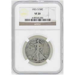 1921-S Walking Liberty Half Dollar Coin NGC VF20