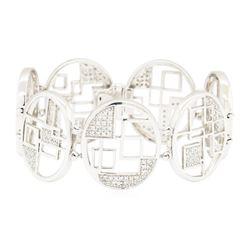 1.15 ctw Diamond Bracelet - 14KT White Gold