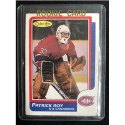 1986-87 O-Pee-Chee  #53 Patrick Roy Rookie Card