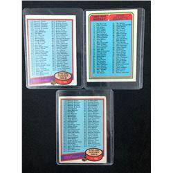 1980'S O-PEE-CHEE HOCKEY CHECKLISTS CARDS LOT