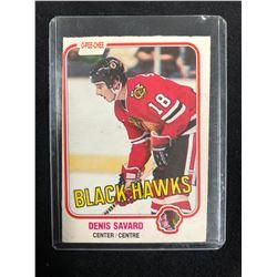 1981-82 O-Pee-Chee #63 Denis Savard Rookie Card