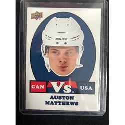 2017-18 Upper Deck Team Canada #VS-1 Auston Matthews VS. USA