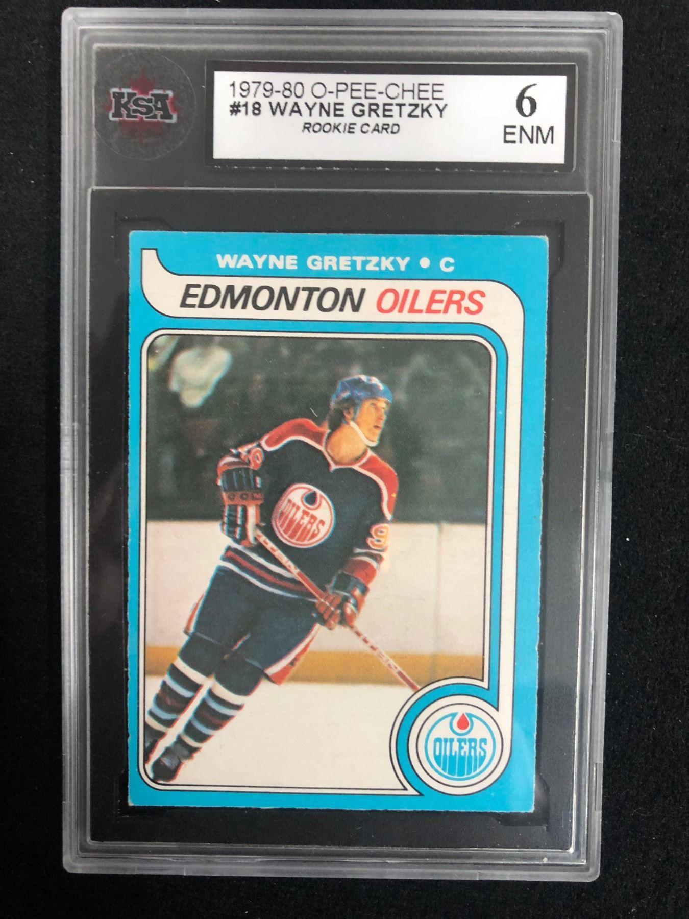 1979 80 O Pee Chee 18 Wayne Gretzky Rookie Card 6 Enm