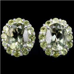NATURAL AAA GREEN AMETHYST & PERIDOT Earrings