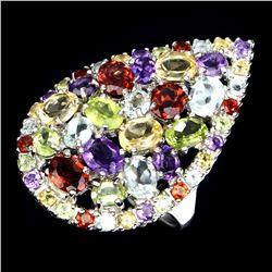 Natural Multi Gemstone 35 Cts Ring
