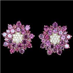 NATURAL PINK RASPBERRY RHODOLITE GARNET Earring