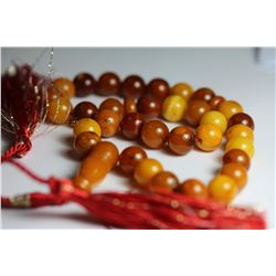 Natural Amber Islamic Prayer 33 Beads Tasbih