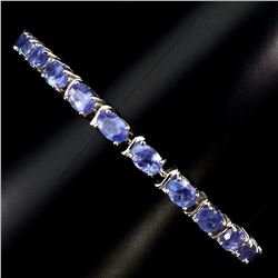 Natural Blue Violet Tanzanite 64.20 Ct  Bracelet
