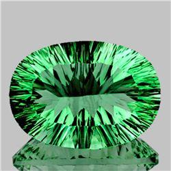 Natural ConCave Cut AAA Paraiba Green Fluorite 50 Ct